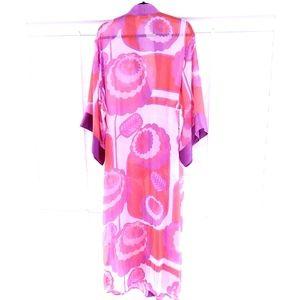 Christian Dior Lingerie Kimono Robe Red Size L